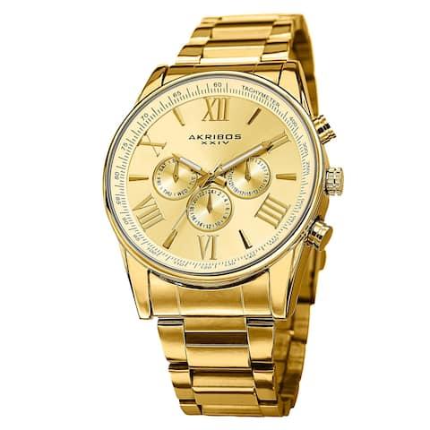 Akribos XXIV Men's Multifunction Tachymeter Stainless Steel Bracelet Watch