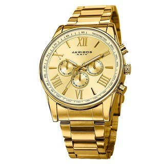 Akribos XXIV Men's Multifunction Tachymeter Stainless Steel Bracelet Watch with FREE GIFT|https://ak1.ostkcdn.com/images/products/8949462/P16161339.jpg?impolicy=medium