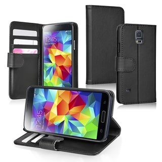 INSTEN Wallet with Card Slot Leather Stand Phone Case Cover for Samsung Galaxy S5/ SV