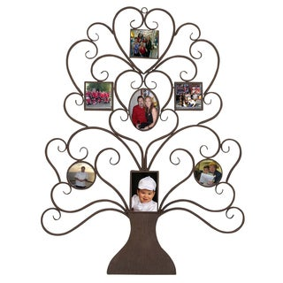 Family Tree Photo Frame Large 40-inch Metal Wall Art Decor