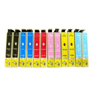 Compatible Epson 98 T098 Ink Cartridges for Epson ARTISAN: 700 710 725 800 810 835 ( Pack Of 12:2K/2C/2M/2Y/2LC/2LM)