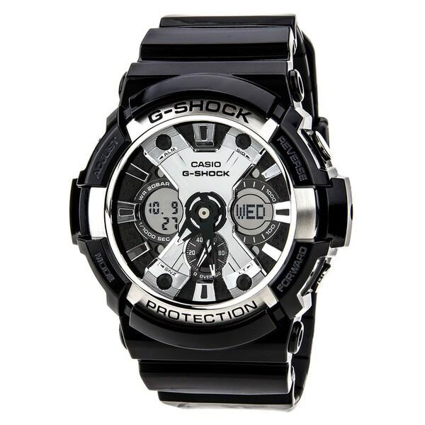 Shop Casio Men U0026 39 S G-shock Xl Black Resin Band  Tough Analog   Digital Watch
