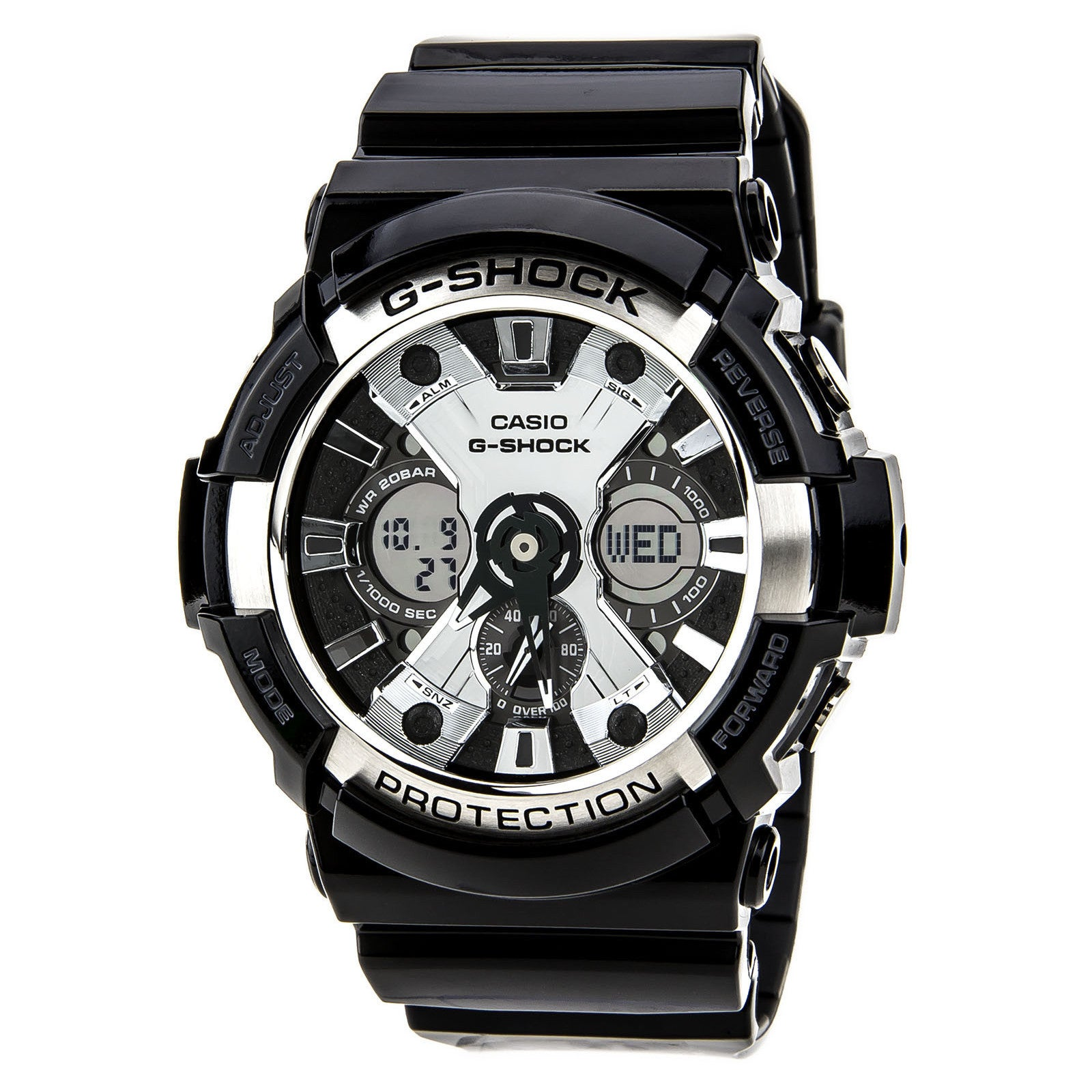 Casio Men's G-Shock XL Black Resin Band, Tough Analog/ Digital Watch (black) (Plastic)