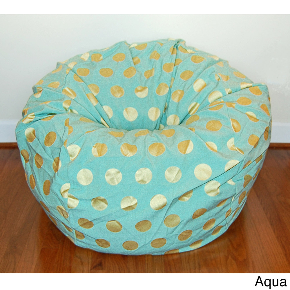 Miraculous Delightful Dots 36 Inch Washable Bean Bag Chair Machost Co Dining Chair Design Ideas Machostcouk