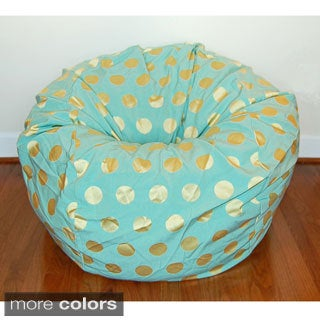 Delightful Dots 36-inch Washable Bean Bag Chair