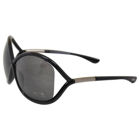 Tom Ford Women's 'TF9 Whitney 199' Black Oversized Sunglasses