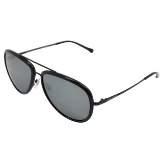 Tory Burch Women's 'TY 6025 440/6G' Black Metal Aviator Sunglasses