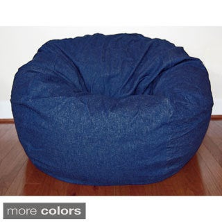 Denim 36-inch Washable Bean Bag Chair