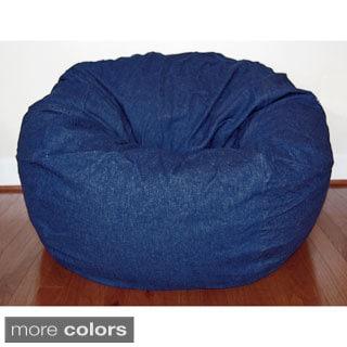 Denim 36-inch Washable Bean Bag Chair