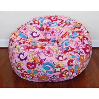 Anti Pill Retro Fun Fleece 36 Inch Washable Bean Bag Chair