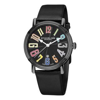 Stuhrling Original Men's Roulette Swiss Quartz Leather Strap Watch