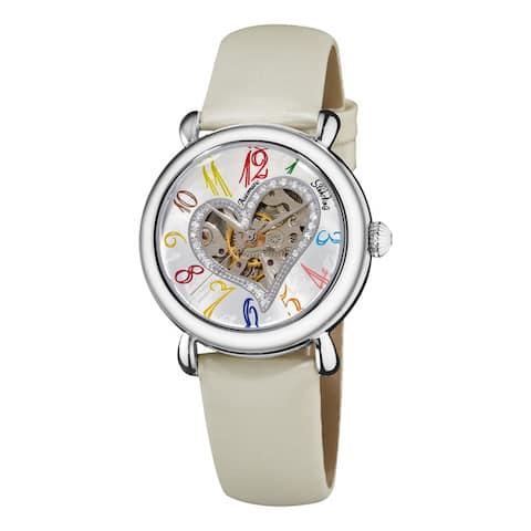 Stuhrling Original Women's Cupid Automatic Leather Strap Watch