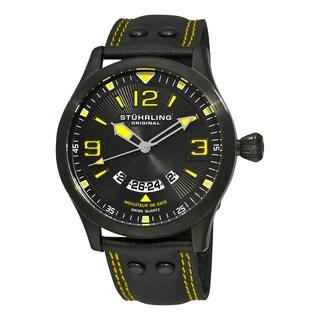 Stuhrling Original Men's Eagle Brigade Swiss Quartz Leather Strap Watch