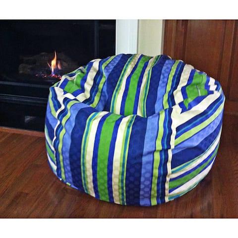 Marina Stripes 36-inch Washable Bean Bag Chair