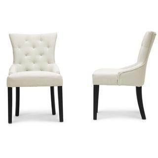 Epperton Beige Linen Modern Dining Chairs (Set of 2)