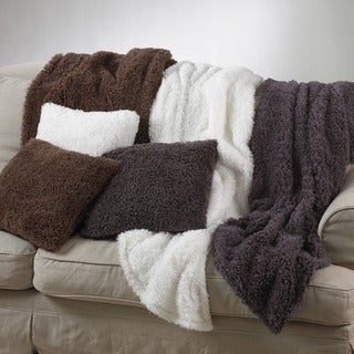 Plush Faux Fur 18-inch Throw Pillow