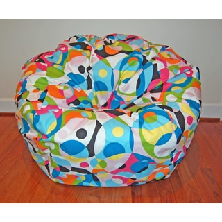 Kalaidescope 36-inch Cotton Washable Bean Bag Chair