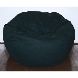 Black Cotton Twill 36-inch Washable Bean Bag Chair
