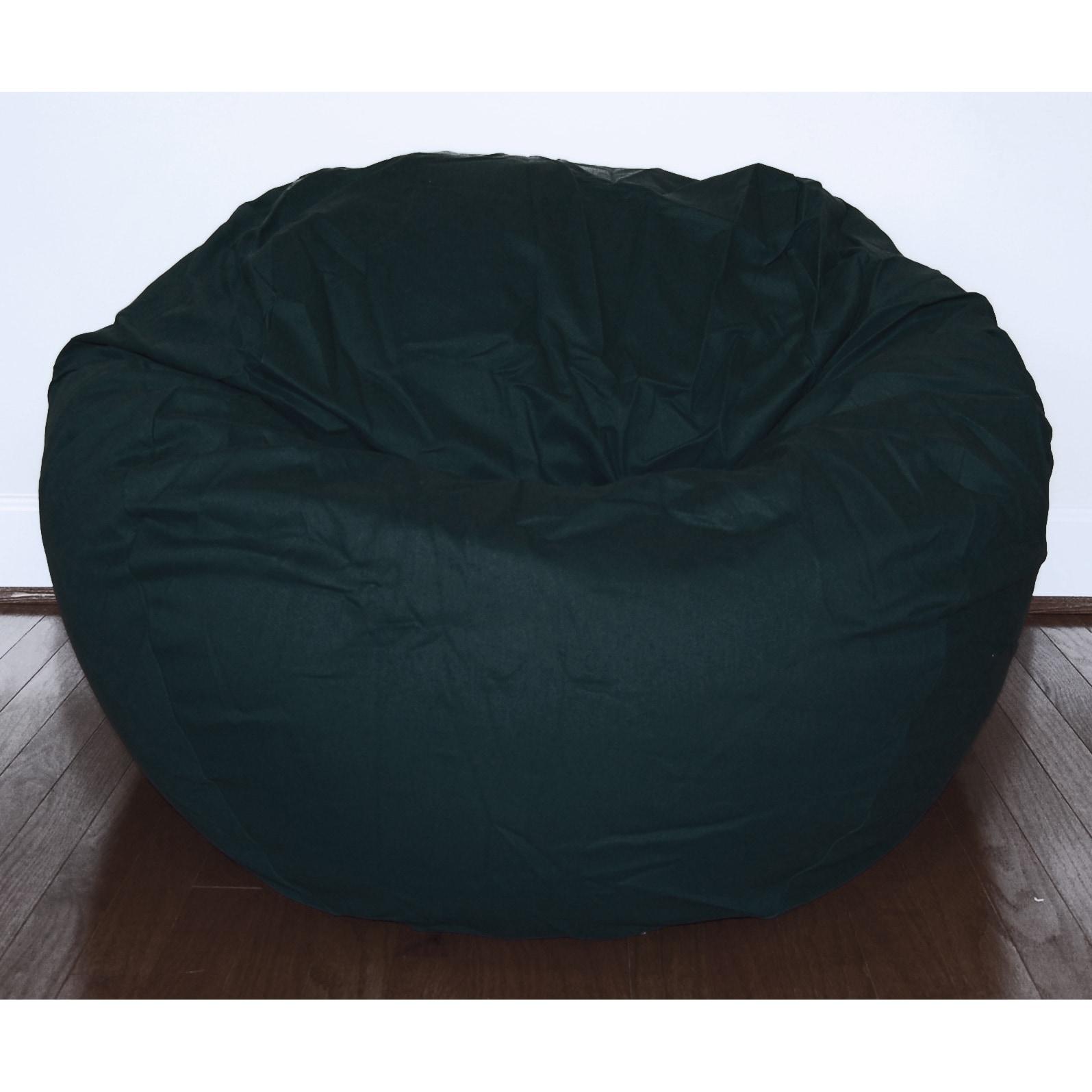 Brilliant Black Cotton Twill 36 Inch Washable Bean Bag Chair Cjindustries Chair Design For Home Cjindustriesco