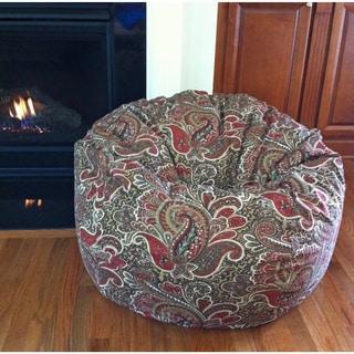 Earthy Paisley 36-inch Washable Bean Bag Chair