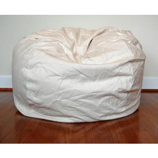 Cream Cotton Twill 36 Inch Washable Bean Bag Chair