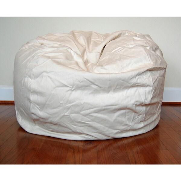 Shop Cream Cotton Twill 36 Inch Washable Bean Bag Chair