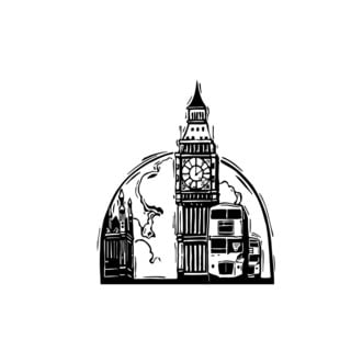 London Travel Vinyl Wall Art Decal