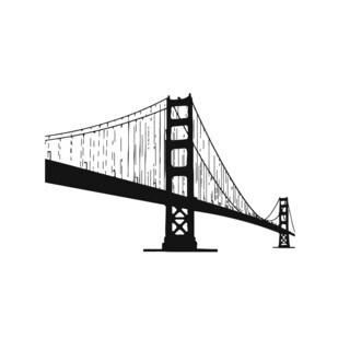 Golden Gate Bridge Vinyl Wall Art Decal