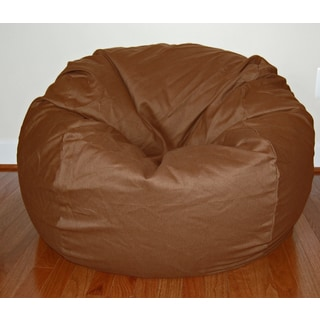 Cocoa Brown Cotton Twill 36-inch Washable Bean Bag Chair