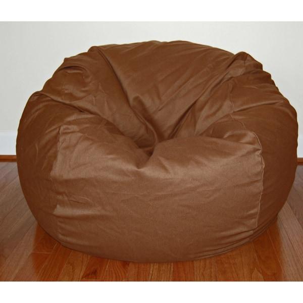 Shop Cocoa Brown Cotton Twill 36 Inch Washable Bean Bag