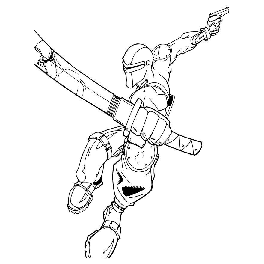 Warrior Ninja Gaiden Coloring Pages Coloring Pages