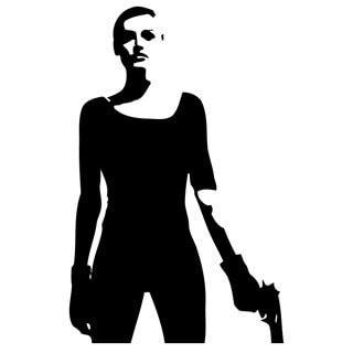 Girl with Gun Vinyl Wall Art Decal
