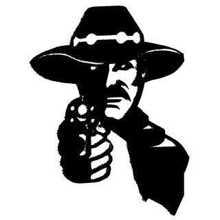 Wild West Man with Gun Vinyl Wall Art Decal