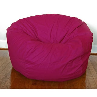 Magenta Cotton Twill 36 Inch Washable Bean Bag Chair