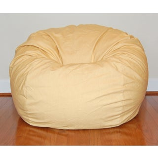Wide Marigold Yellow Cotton Twill 36 Inch Washable Bean Bag Chair