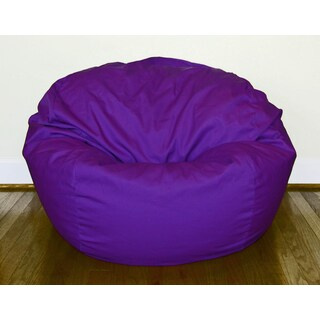 Purple Cotton/ Poly Twill 36-inch Washable Bean Bag Chair