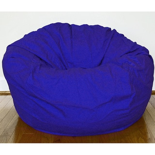 Wide Royal Blue Cotton Twill 36-inch Washable Bean Bag Chair
