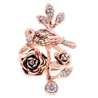 City by City City Glam Rose Gold-tone Bird Flower Ring
