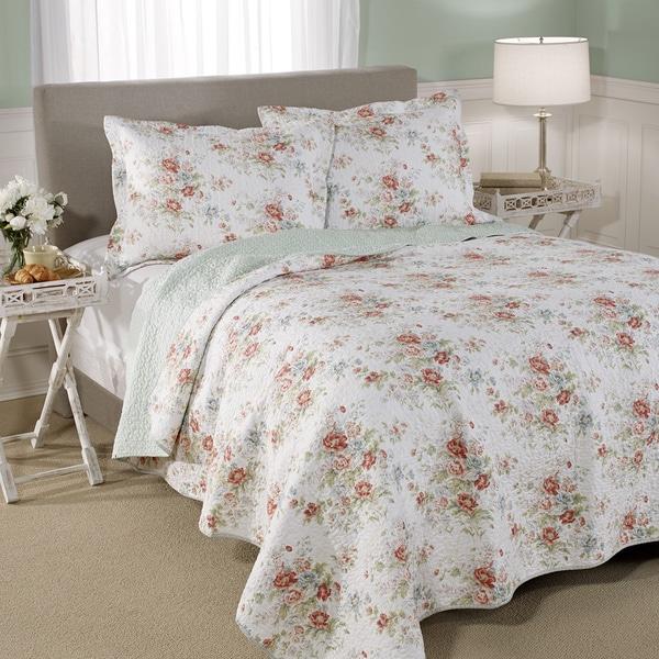 Shop Laura Ashley Arundel Cotton 3-piece Quilt Set