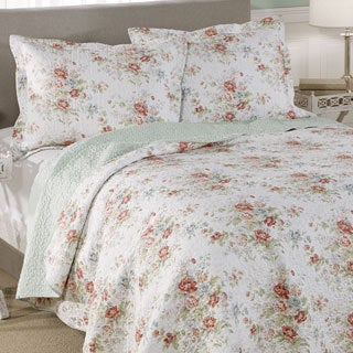 shop laura ashley arundel cotton 3 piece quilt set free. Black Bedroom Furniture Sets. Home Design Ideas