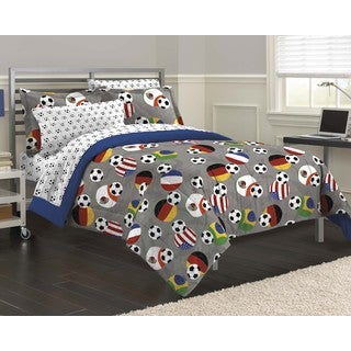 Soccer Fever 7-piece Bed in a Bag with Sheet Set (2 options available)