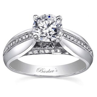 14k White Gold 1ct TDW Diamond Designer Engagement Ring