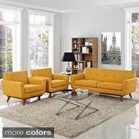 Engage Mid Century 3-piece Armchairs and Loveseat Set