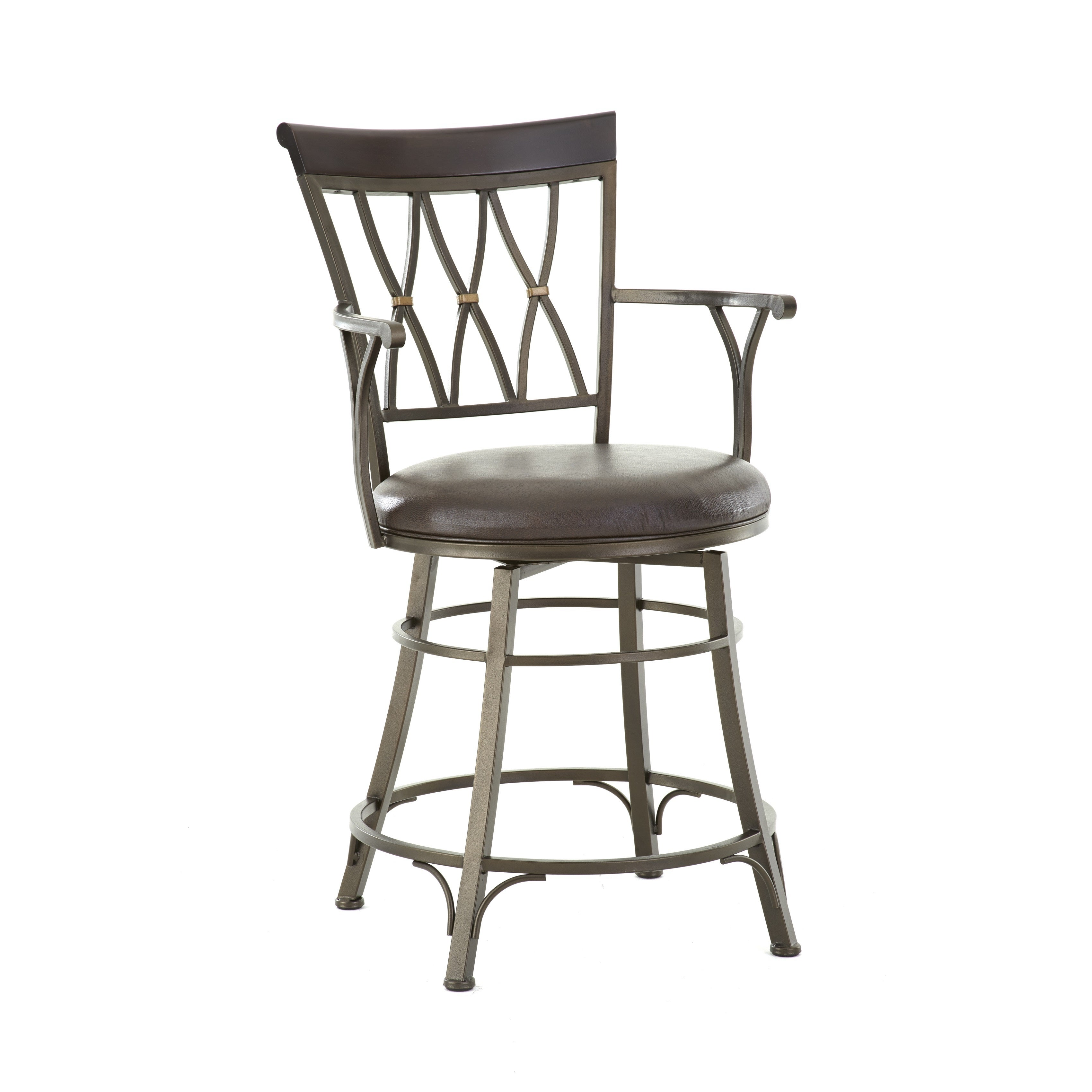 Astonishing Bella 30 Inch Jumbo Metal Swivel Stool With Arms By Greyson Living Ncnpc Chair Design For Home Ncnpcorg