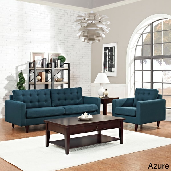 Empress 2-piece Upholstered Armchair and Sofa Set - Free ...