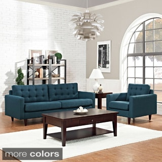 Empress 2-piece Upholstered Armchair and Sofa Set