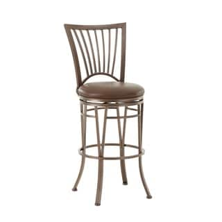 Lidia 24 or 30-inch Metal Swivel Stool by Greyson Living