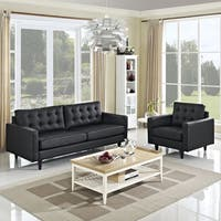 Empress 2-piece Bonded Leather Armchair and Sofa Set