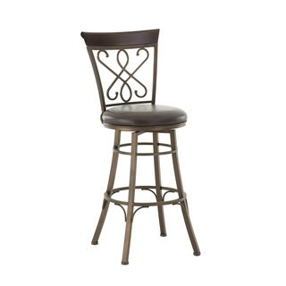 Captiva 24 or 30-inch Metal Swivel Stool by Greyson Living