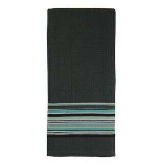 MUkitchen Grey Waffle Stripe Cotton Towel